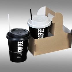Ποτήρι χάρτινο 12oz ζεστού και κρύου ροφήματος (εκτύπωση με το λογότυπο σας)