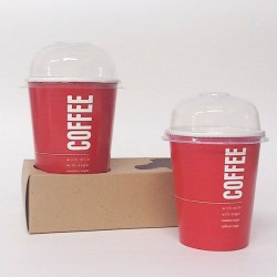 Ποτήρι χάρτινο 16oz ζεστού και κρύου ροφήματος (εκτύπωση με το λογότυπο σας)