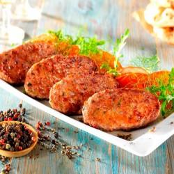 Μπιφτέκια με Φρέσκο Μοσχάρι (medi burger) 60gr (100τμχ)
