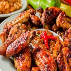Φτερούγες Κοτόπουλου με Barbeque Sauce (1kg)